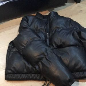 Leather puffer from urban outfitters